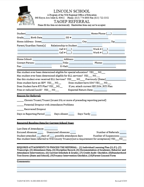 TAOEP Referral Form